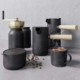 现代手动咖啡机模型
