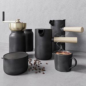 現代手動咖啡機3d模型