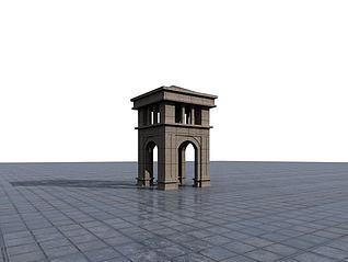 欧式景观楼3d模型