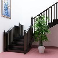 后现代黑金楼梯护栏楼梯3d模型
