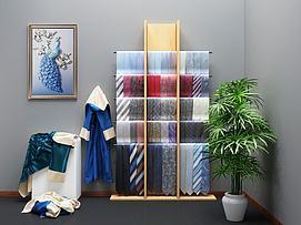 现代装饰架展示架模型