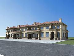 欧式联排别墅模型3d模型