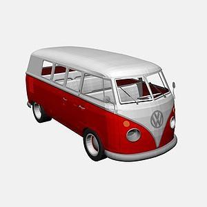 大众T1大巴车模型