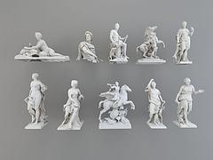 欧式人物雕塑模型3d模型