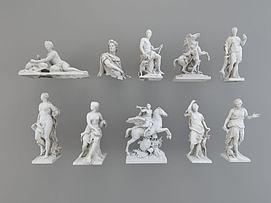 欧式人物雕塑模型
