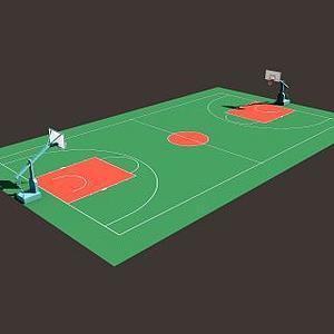 1:1新式蓝球场模型