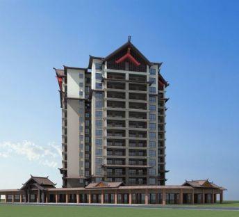 傣族风格高层建筑