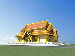 傣族建筑模型3d模型