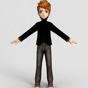 3dQQ飛車男套裝模型