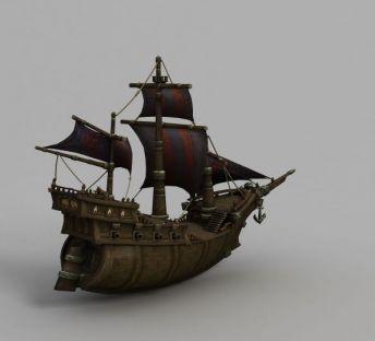 魔兽模型海盗船