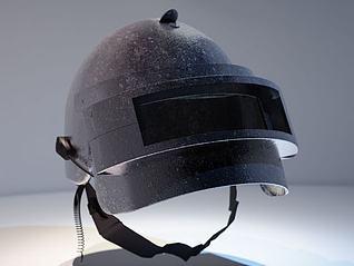 吃鸡三级头盔3d模型