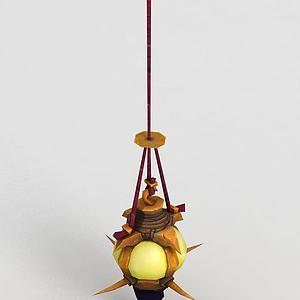 魔兽世界灯具模型