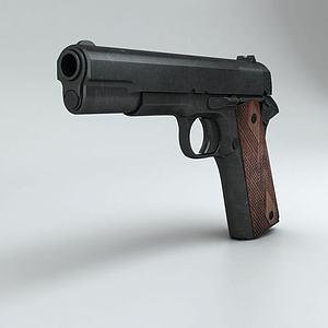 游戏手枪武器道具模型