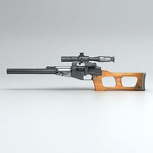 Vintorez狙击步枪3d模型