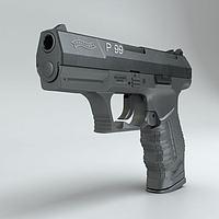 沃尔特P99手枪3d模型