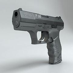 沃尔特P99手枪模型3d模型