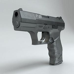 沃爾特P99手槍3d模型