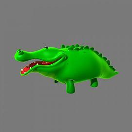 卡通鳄鱼模型