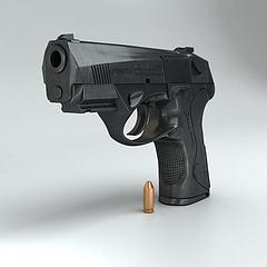 贝雷塔手枪模型3d模型