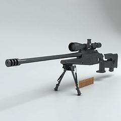 吃鸡战场狙击枪模型3d模型