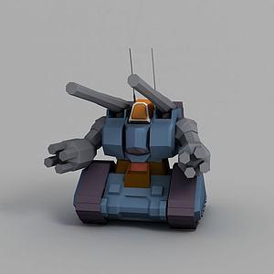 量产型钢铁坦克模型3d模型