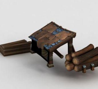 魔兽世界游戏木材木屋