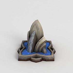 魔獸世界游戲噴泉模型3d模型