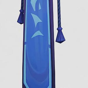 魔兽世界游戏旗帜模型