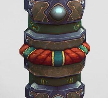 魔兽世界游戏石柱装饰