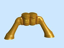 青岛啤?#24179;?#24178;杯雕塑模型