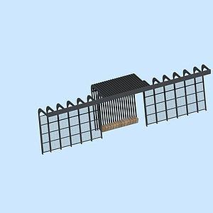 3d廊架模型