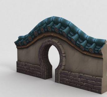 魔兽世界游戏月洞门