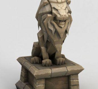 魔兽世界门头石狮子