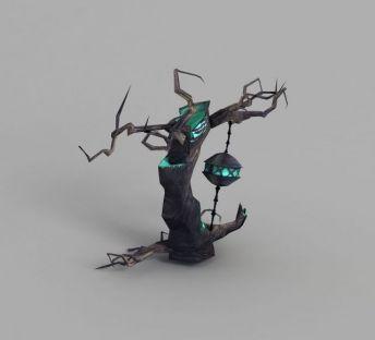 魔兽世界游戏树木造型