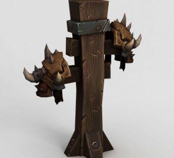 魔兽世界游戏木桩