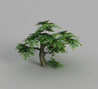 游戏场景榕树造型装饰