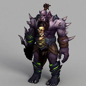 魔兽世界游戏角色模型