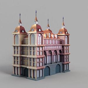 游戏场景城堡装饰模型