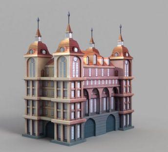 游戏场景城堡装饰