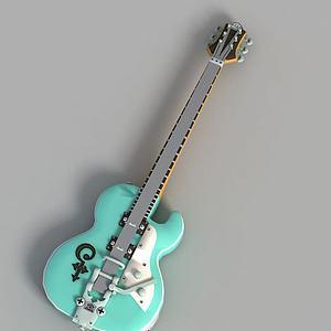 游戏吉他饰品装饰模型