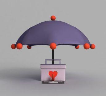 游戏场景雨伞装饰