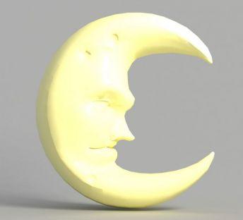 游戏场景月亮装饰造型