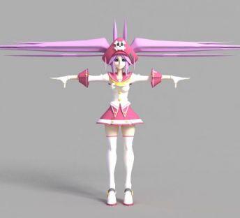 游戏美少女角色造型