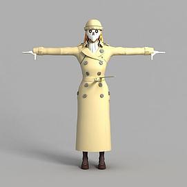 3d游戏鬼怪角色造型模型