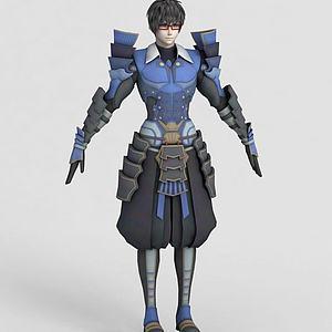 動漫男生角色模型3d模型