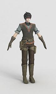 動漫人物角色模型3d模型