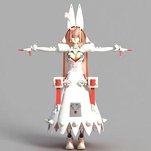 動漫人物模型3d模型