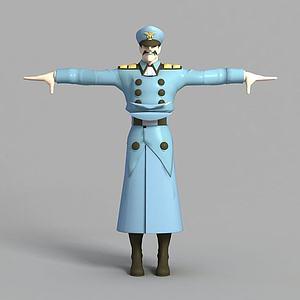動漫人物大兵角色模型3d模型