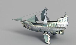 3d動漫<font class='myIsRed'>帆船</font>模型