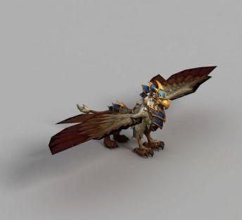 魔兽世界蓝色角鹰兽坐骑